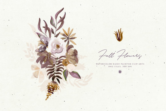 Fall Flowers Graphic By webvilla Image 3