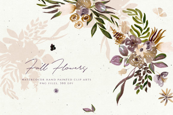 Fall Flowers Graphic By webvilla