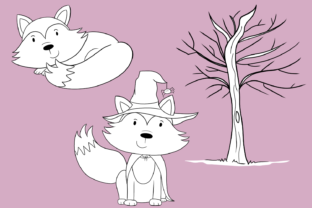 Print on Demand: Fall Foxes Digital Stamps Graphic Illustrations By Keepinitkawaiidesign 4