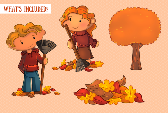 Print on Demand: Fall Leaves Clip Art Collection Graphic Illustrations By Keepinitkawaiidesign - Image 2