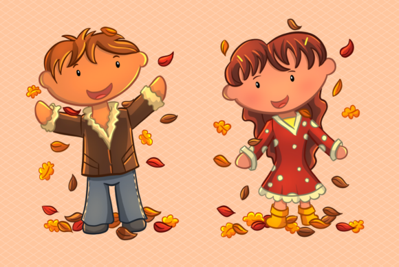Print on Demand: Fall Leaves Clip Art Collection Graphic Illustrations By Keepinitkawaiidesign - Image 4