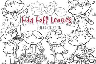 Fall Leaves Digital Stamps Graphic By Keepinitkawaiidesign