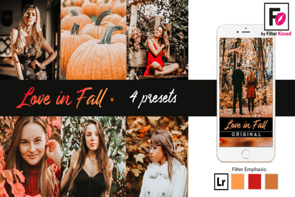 Print on Demand: Fall Lightroom Presets Instagram Preset Graphic Actions & Presets By adlydigital