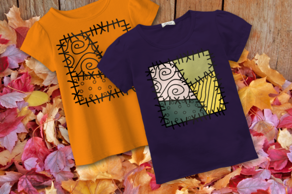 Fall Patchwork Square Graphic Crafts By DesignedByGeeks