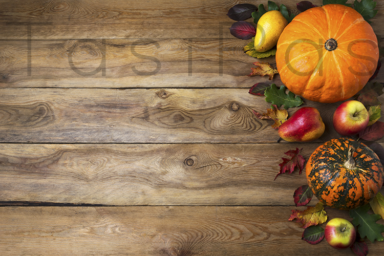 Fall Rustic Background With Pumpkin Graphic By Tasipas