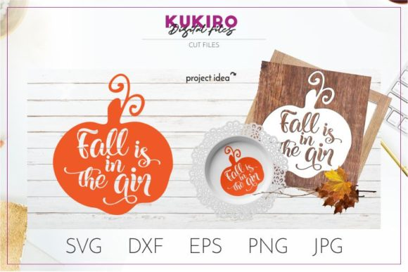 Download Free Fall Is In The Air Graphic By Kukiro Creative Fabrica for Cricut Explore, Silhouette and other cutting machines.