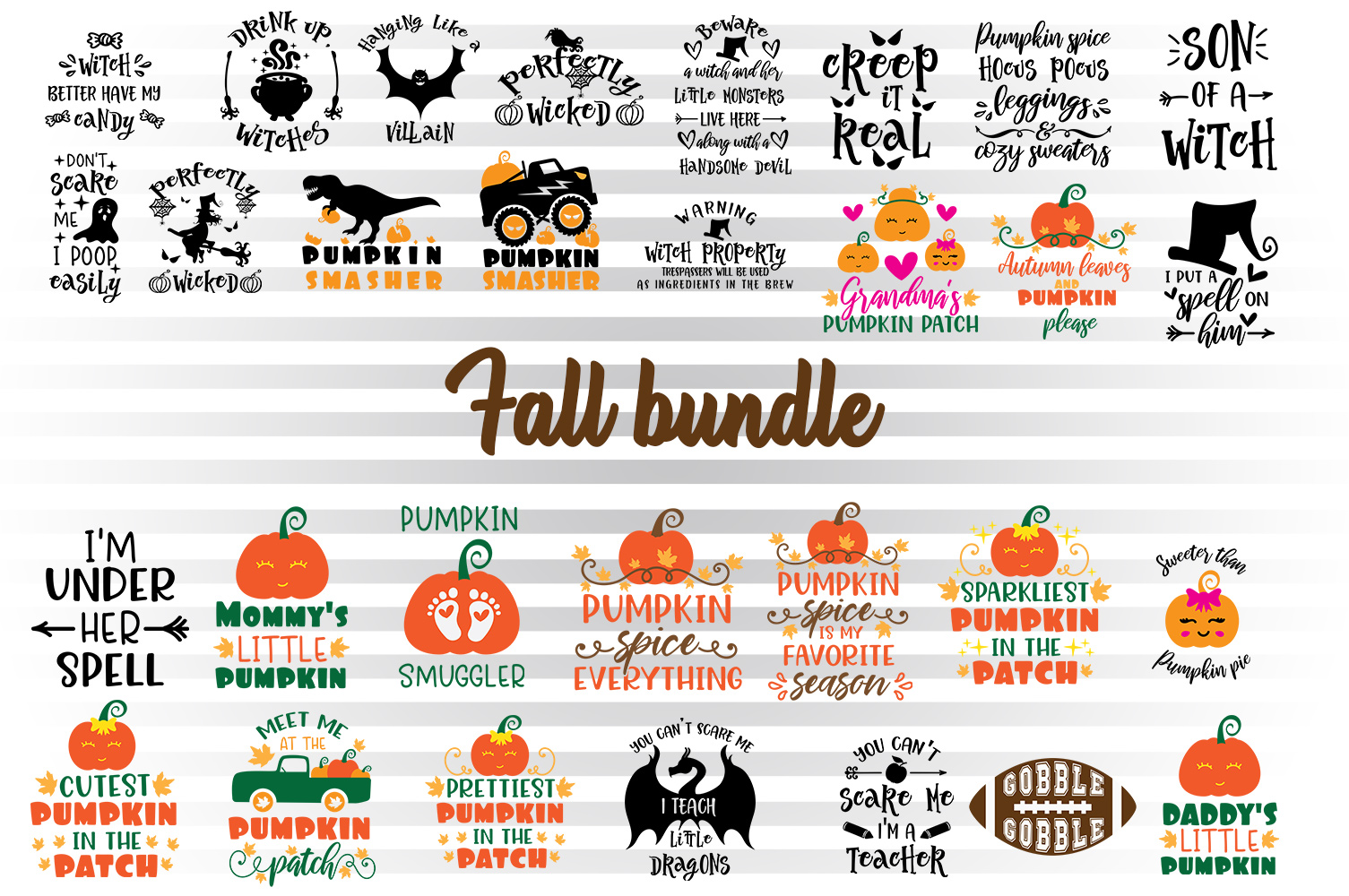 Download Free Fall Bundle Graphic By Illustrator Guru Creative Fabrica for Cricut Explore, Silhouette and other cutting machines.