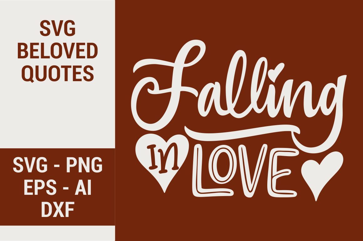 Download Free Falling In Love Graphic By Kreasari Creative Fabrica for Cricut Explore, Silhouette and other cutting machines.