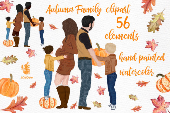 Family Clipart Graphic Illustrations By LeCoqDesign
