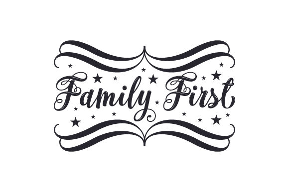 Download Free Family First Svg Cut File By Creative Fabrica Crafts Creative for Cricut Explore, Silhouette and other cutting machines.