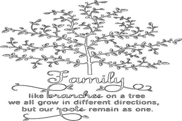 Download Free Family Like Branches With Tree Graphic By Desired Vinyls for Cricut Explore, Silhouette and other cutting machines.