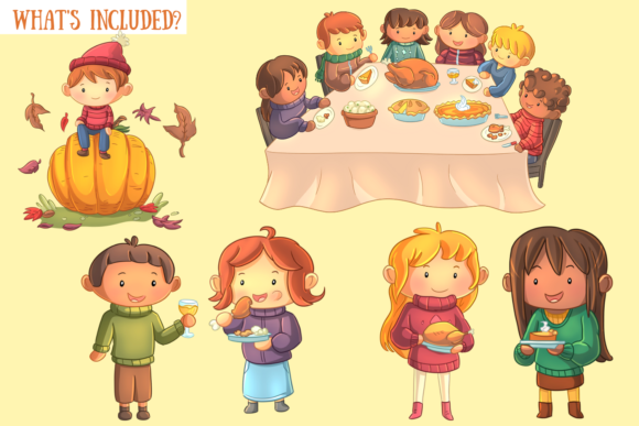 Family Thanksgiving Clip Art Collection