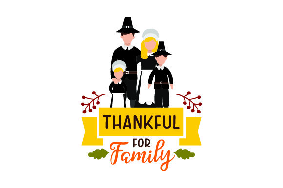 Download Free Family Dressed As Pilgrims Thankful For Family Svg Cut File By for Cricut Explore, Silhouette and other cutting machines.