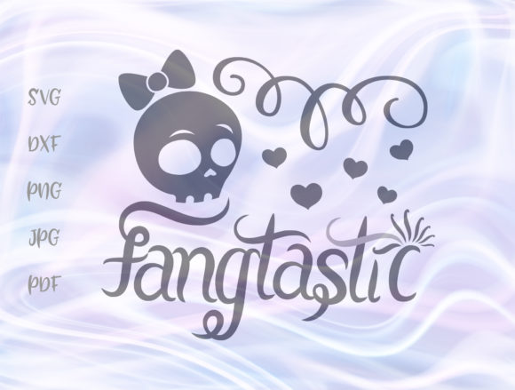 Download Free Fangtastic Happy Halloween Girl Skull Graphic By Digitals By for Cricut Explore, Silhouette and other cutting machines.