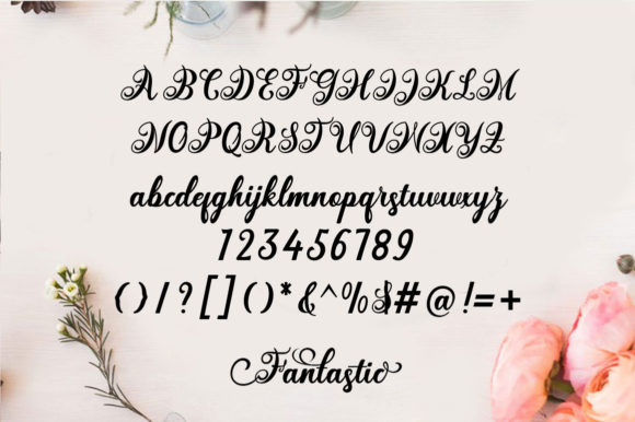 Print on Demand: Fantastic Script Script & Handwritten Font By saidi studio - Image 6