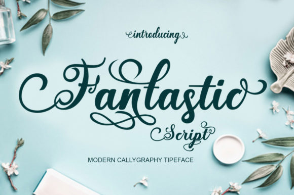 Print on Demand: Fantastic Script Script & Handwritten Font By saidi studio