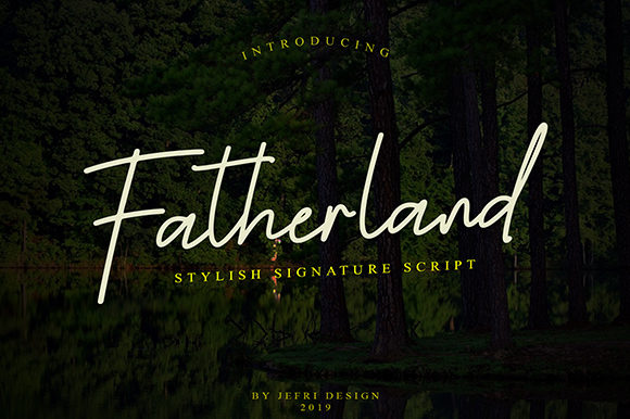 Print on Demand: Fatherland Script Script & Handwritten Font By Bluestype Studio