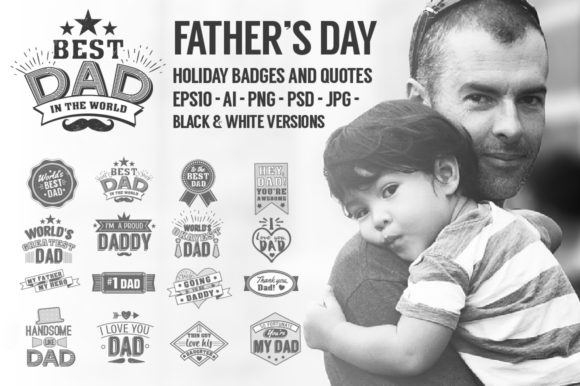 Download Free Fathers Day Quotes Graphic By Peliken Creative Fabrica for Cricut Explore, Silhouette and other cutting machines.