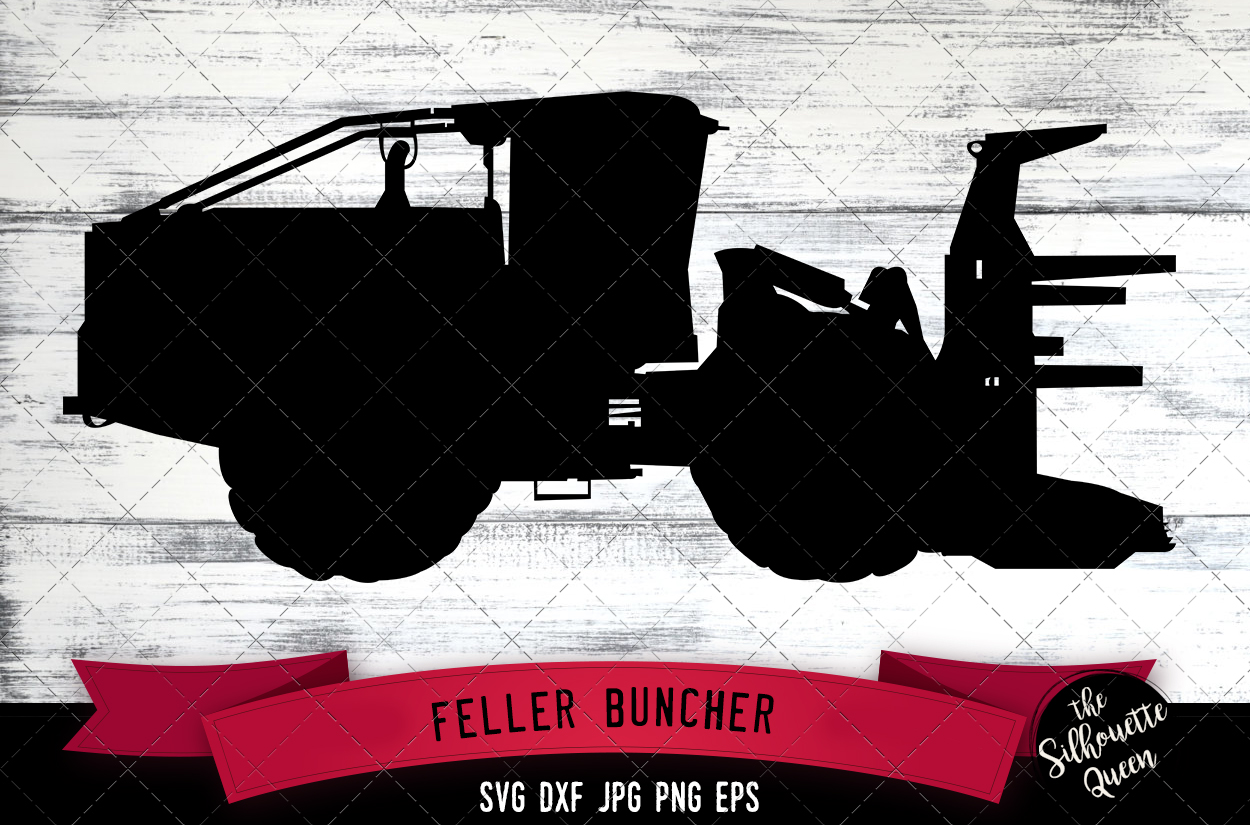 Download Free Feller Buncher Graphic By Thesilhouettequeenshop Creative Fabrica for Cricut Explore, Silhouette and other cutting machines.