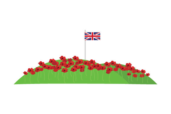 Download Free Field Of Poppies With Uk Flag Svg Cut File By Creative Fabrica for Cricut Explore, Silhouette and other cutting machines.