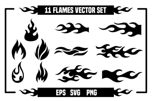 Print on Demand: Fire and Flames Vector Graphic Illustrations By davidrockdesign