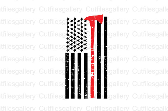 Download Free Firefighter Flag Distressed Graphic By Cutfilesgallery for Cricut Explore, Silhouette and other cutting machines.