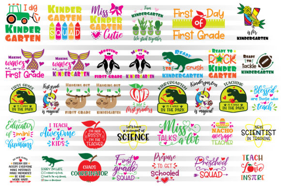 First Day of School Graphic Crafts By Illustrator Guru - Image 2