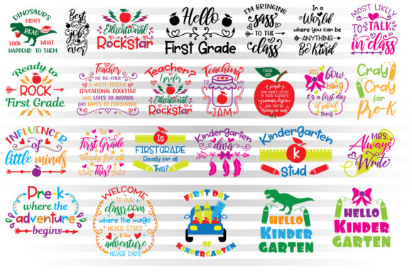First Day of School Graphic Crafts By Illustrator Guru - Image 1