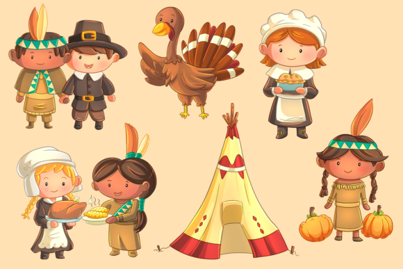 First Thanksgiving Clip Art Collection