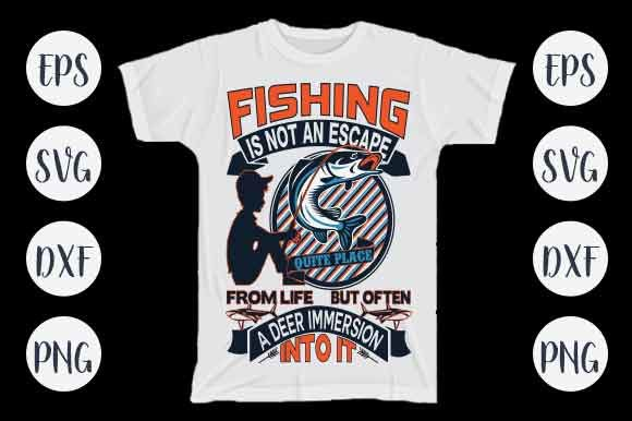 Print on Demand: Fishing T-shirt Design Graphic Crafts By CreativeArt