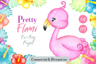 Flamingo Watercolor Clip Art Graphic By adlydigital