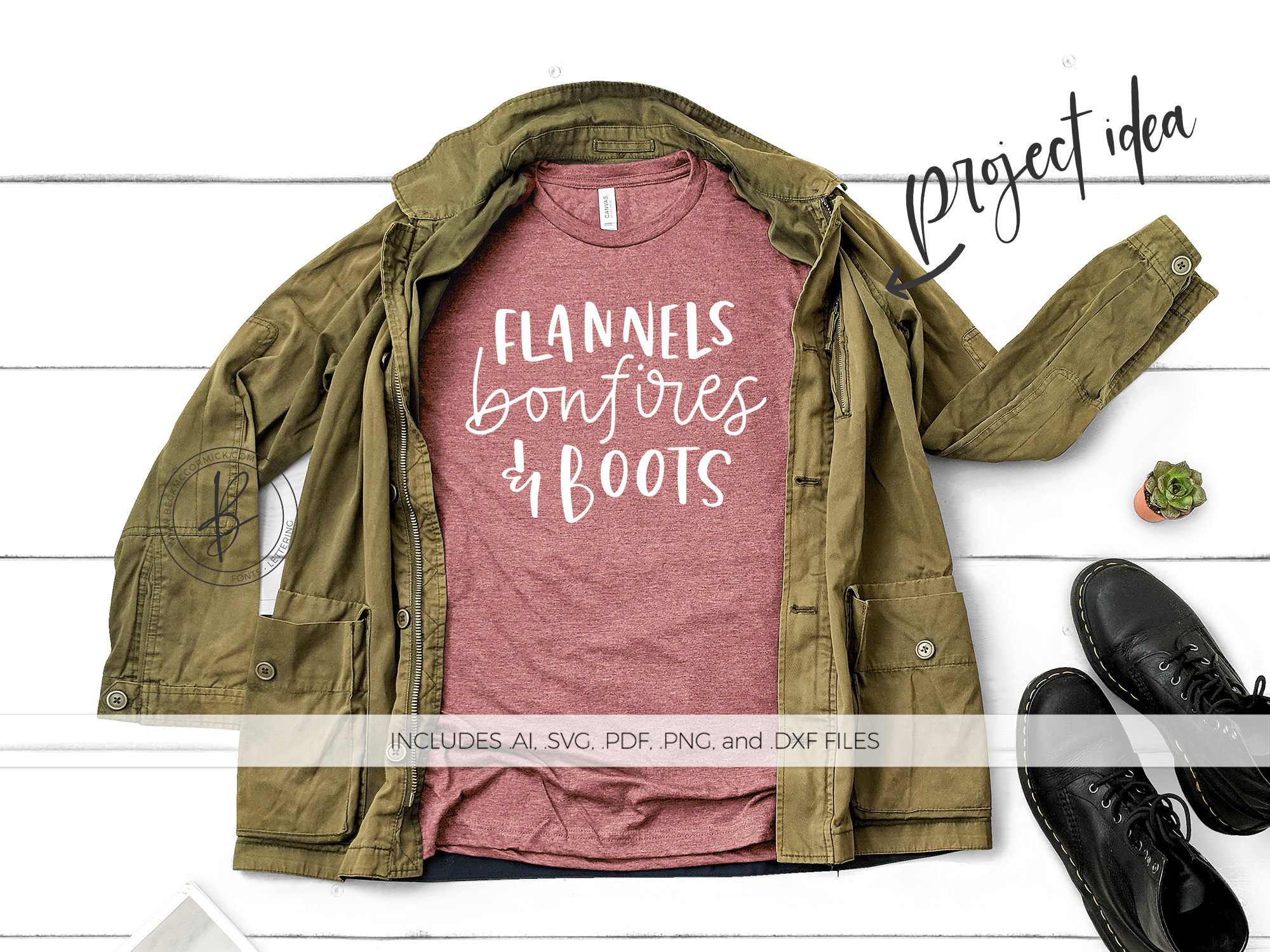 Download Free Flannels Bonfires Boots Graphic By Beckmccormick Creative for Cricut Explore, Silhouette and other cutting machines.