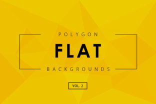 Flat Polygon Backgrounds 2 Graphic By ArtistMef