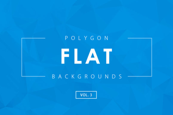 Print on Demand: Flat Polygon Backgrounds 3 Graphic Backgrounds By ArtistMef
