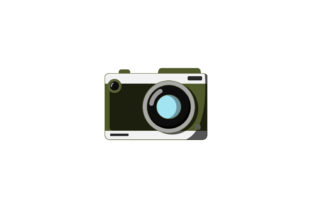 Download Free Flat Style Camera Design Graphic By Sabavector Creative Fabrica for Cricut Explore, Silhouette and other cutting machines.
