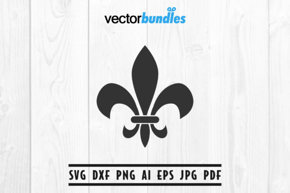 Download Free Fleur De Lis Clip Art Svg Graphic By Vectorbundles Creative for Cricut Explore, Silhouette and other cutting machines.
