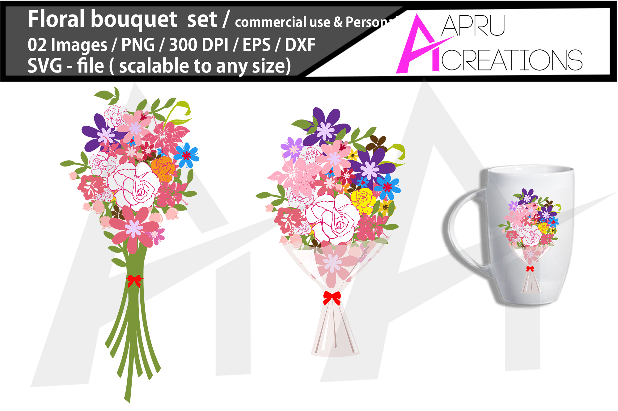 Download Free Floral Bouquet Cut File Floral Bou Graphic By Aparnastjp for Cricut Explore, Silhouette and other cutting machines.