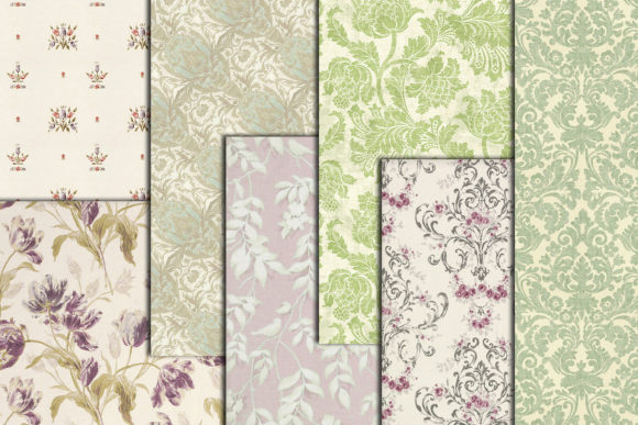 Floral Digital Paper Graphic Crafts By ChiliPapers - Image 2