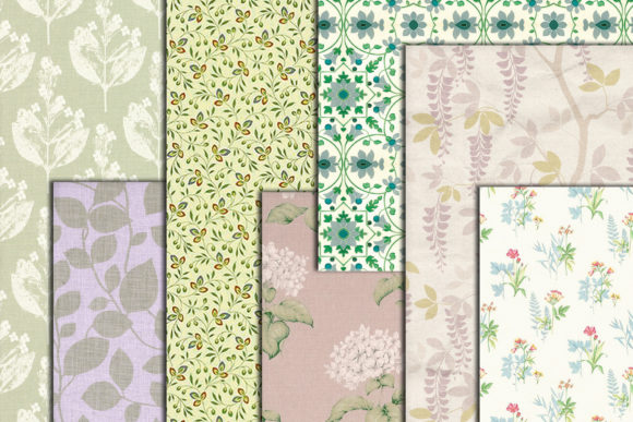 Floral Digital Paper Graphic Crafts By ChiliPapers - Image 3