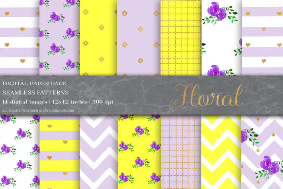 Download Free Floral Digital Papers Shabby Chic Paper Graphic By Bonadesigns for Cricut Explore, Silhouette and other cutting machines.