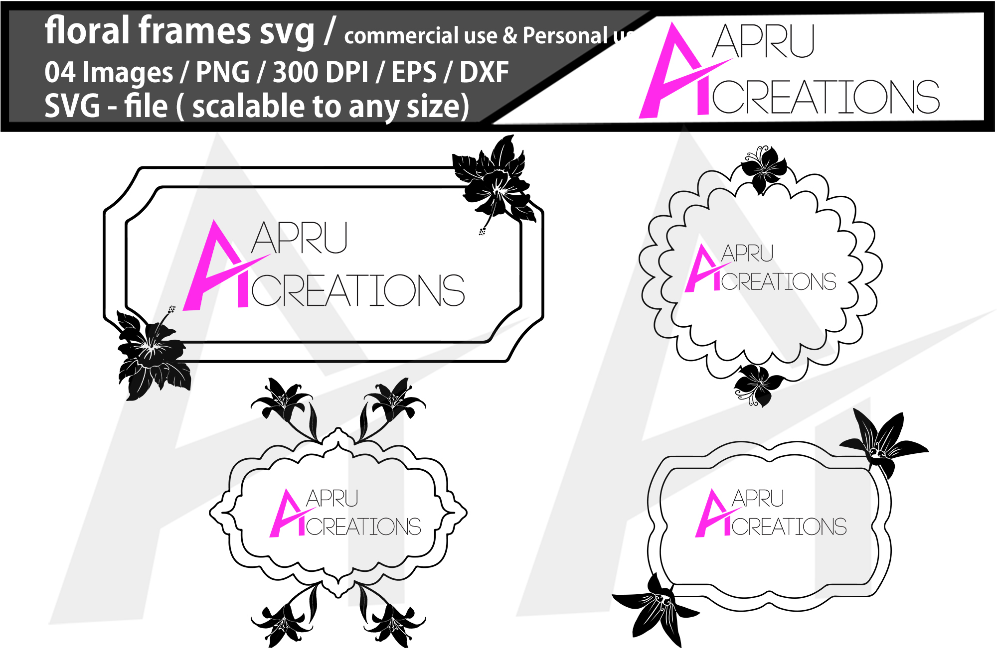 Floral Frame Cut File Graphic By Aparnastjp Creative Fabrica
