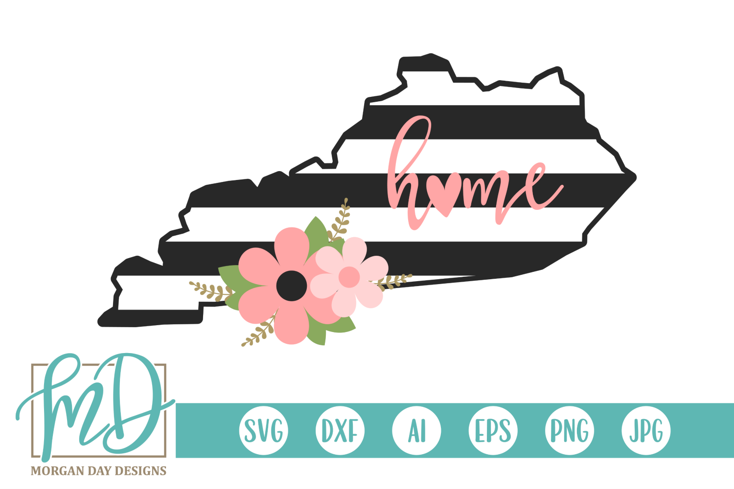 Download Free Floral Kentucky Graphic By Morgan Day Designs Creative Fabrica for Cricut Explore, Silhouette and other cutting machines.