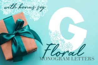 Floral Monogram Alphabet Set Graphic By Justina Tracy
