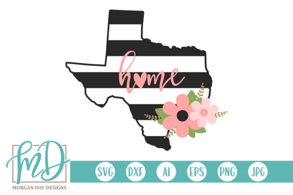 Floral Texas Graphic Crafts By Morgan Day Designs