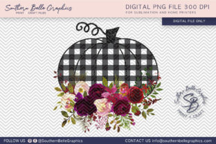 Floral and Plaid Pumpkin Graphic By Southern Belle Graphics