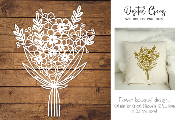 Flower Paper Cut Design Graphic By Digital Gems Creative Fabrica