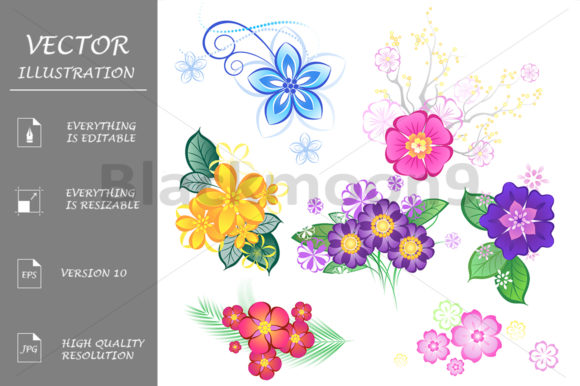 Flowers Graphic Illustrations By Blackmoon9