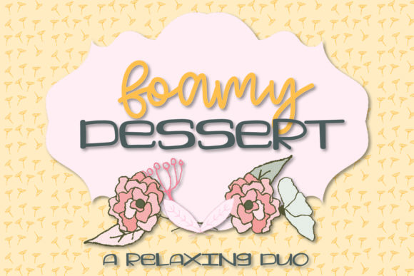 Print on Demand: Foamy Dessert Decorative Font By Justina Tracy