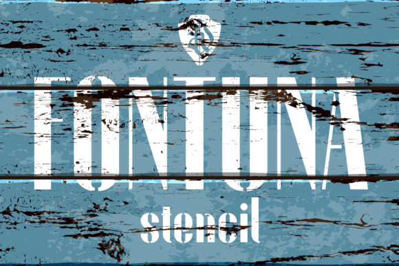Print on Demand: Fontuna Stencil Sans Serif Font By NREY
