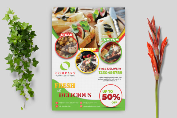 Food Flyer Template Graphic Print Templates By goku4501